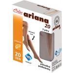 Ariana 20 - pohodlné podkolenky, 2 páry v krabičce