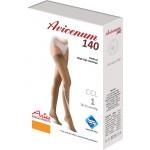 Avicenum 140 medyczne cienkie pończochy samonośne z zamkniętym czubkiem i z koronką - box