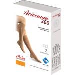 Avicenum 360 MICRO medyczne podkolanówki, czubek zamknięty