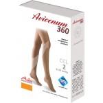 Avicenum 360 MICRO medyczne pończochy samonośne, czubek otwarty, z lamówką - box