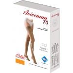 Avicenum 70 medyczne pończochy profilaktyczne, samonośne z zamkniętym czubkiem, z koronką - box